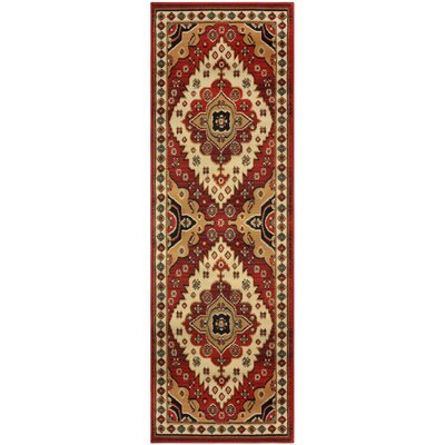 Saylorsburg Red/Brown Area Rug Rug Size: Runner 27 x 8