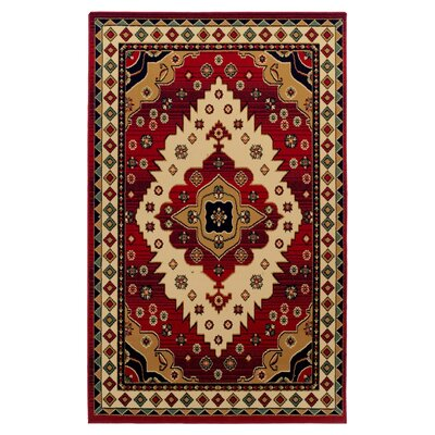 Saylorsburg Red/Brown Area Rug Rug Size: Rectangle 8 x 10