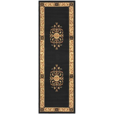 Dodington Machine Woven Polypropylene Midnight Blue Blue Area Rug Rug Size: Runner 27 x 8