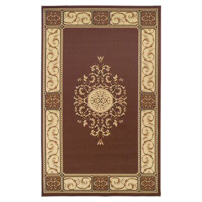 Dodington Elegant Medallion Coffee Area Rug Rug Size: Rectangle 4 x 6