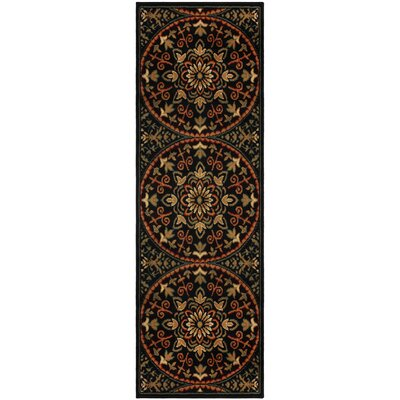 Dodington Medallion Red Area Rug Rug Size: Runner 27 x 8