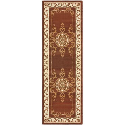 Dodington Brown Area Rug Rug Size: Runner 27 x 8