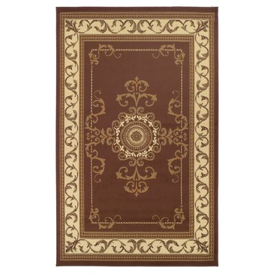 Dodington Brown Area Rug Rug Size: Rectangle 4 x 6