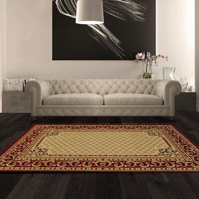 Dodington Ivory Area Rug Rug Size: Rectangle 4 x 6