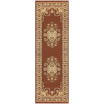 Dodington Traditional Coffee Area Rug Rug Size: Runner 27 x 8