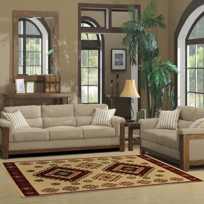 Garside Ivory Area Rug Rug Size: Rectangle 5 x 8