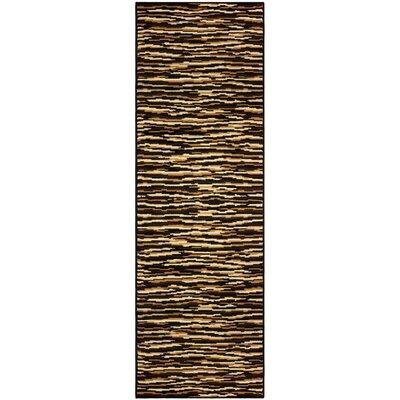 Saylorsburg Modern Brown Area Rug Rug Size: Runner 27 x 8