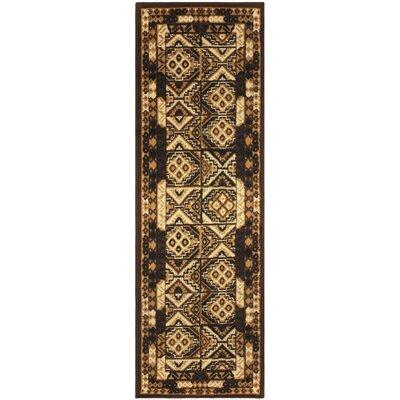 Garside Mosaic Brown Area Rug Rug Size: Runner 27 x 8