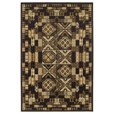 Garside Mosaic Brown Area Rug Rug Size: Rectangle 4 x 6