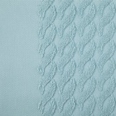 Jacquard 8 Piece Towel Set Color: Cascade