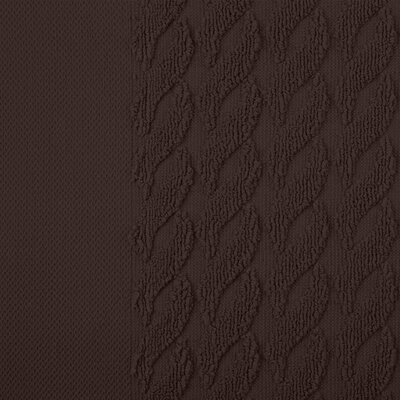 Jacquard 8 Piece Towel Set Color: Chocolate