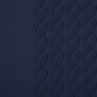 Jacquard 8 Piece Towel Set Color: Navy Blue