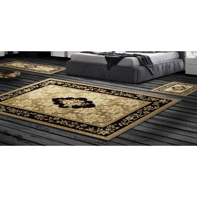 Dodington Traditional 3 Piece Ivory Area Rug Set