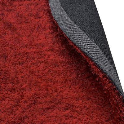 Blaisdell Shag Hand Woven Burgundy Area Rug Rug Size: 5 x 8