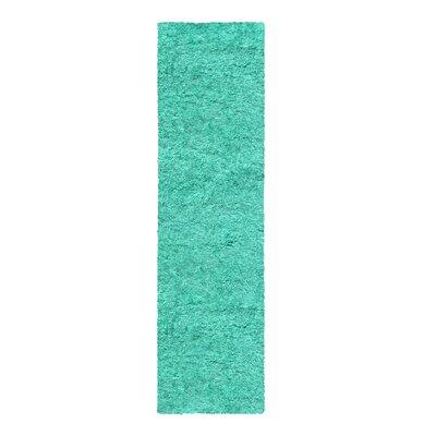Blaisdell Shag Hand Woven Ocean Blue Area Rug Rug Size: Runner 27 x 8