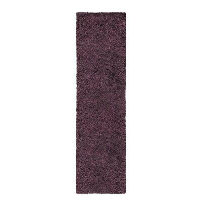 Blaisdell Shag Hand Woven Purple Area Rug Rug Size: Runner 27 x 8