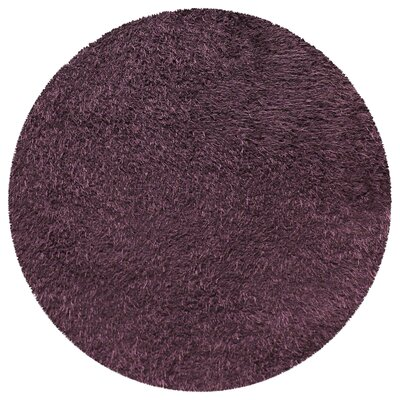 Blaisdell Shag Hand Woven Purple Area Rug Rug Size: Round 66