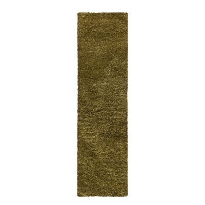 Blaisdell Shag Hand Woven Sage Area Rug Rug Size: Runner 27 x 8