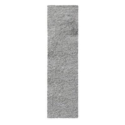 Blaisdell Shag Hand Woven Silver Area Rug Rug Size: Runner 27 x 8