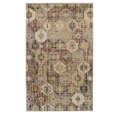Goshen Arabella Gold Area Rug Rug Size: Rectangle 5 x 8