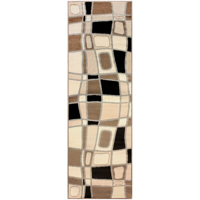 Azaleh Cobblestone Brown Area Rug Rug Size: Runner 27 x 8