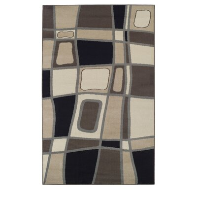 Azaleh Cobblestone Brown Area Rug Rug Size: 4 x 6