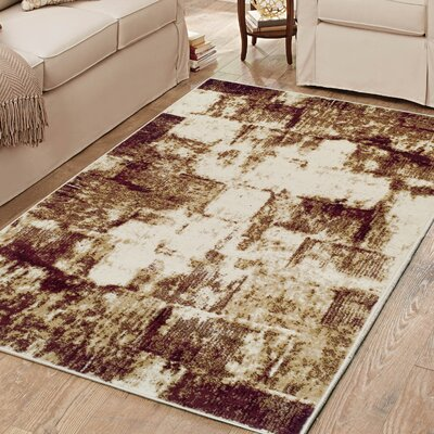 Azaleh Distressed Film Maroon Area Rug Rug Size: 4 x 6