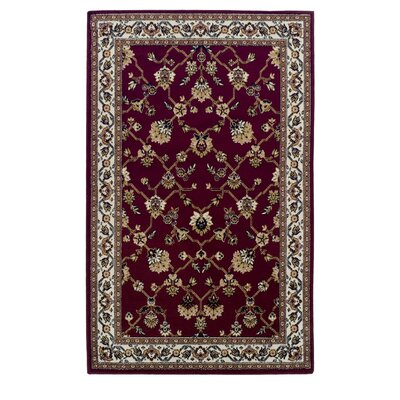 Clervil Kingfield Red Area Rug Rug Size: 5 x 8