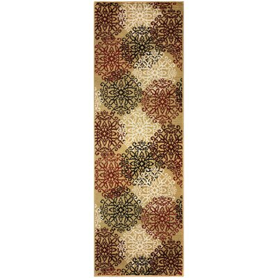 Callicoon Leigh Gold Area Rug Rug Size: Runner 27 x 8