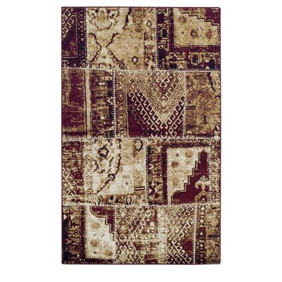 Bourbon Parquet Red Area Rug Rug Size: 5 x 8