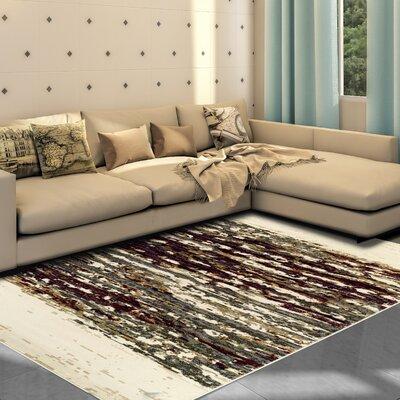 Azaleh Terrain Red/Gray Area Rug Rug Size: 8 x 10