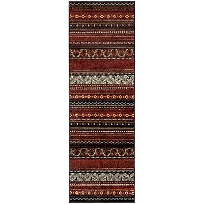 Goshen Maroon Area Rug Rug Size: Runner 27 x 8