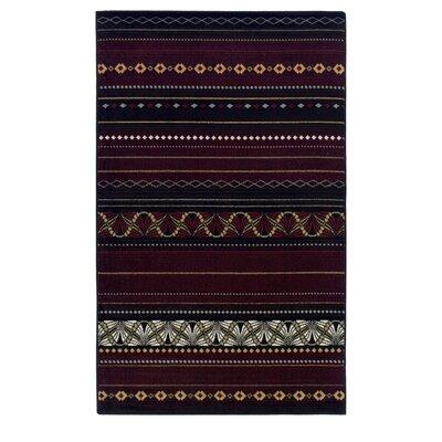 Goshen Maroon Area Rug Rug Size: 8 x 10