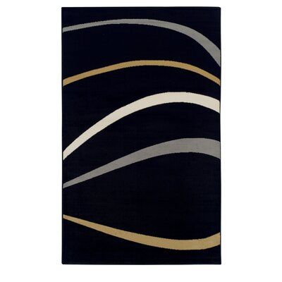 Azaleh Zara Black Area Rug Rug Size: 4 x 6