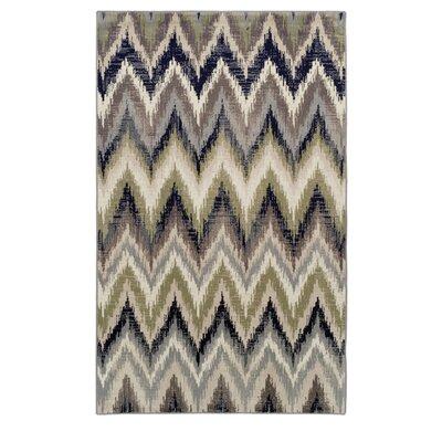Velazco Zigzag Brown Area Rug Rug Size: 5 x 8