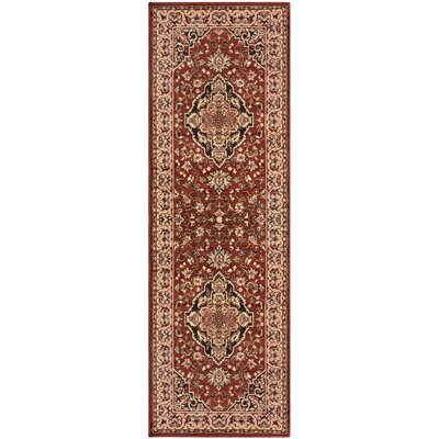 Alcocer Red Area Rug Rug Size: Runner 27 x 8