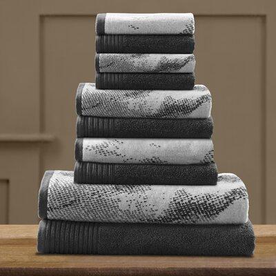 Pressman Cotton 10 Piece Towel Set Color: Black