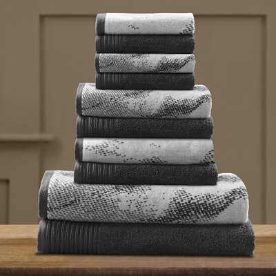 Pressman Cotton Towel Set Color: Black
