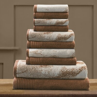 Pressman Cotton 10 Piece Towel Set Color: Brown