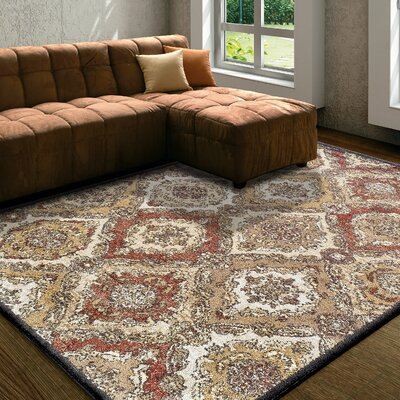 Golston Cream Area Rug Rug Size: Rectangle 8x10
