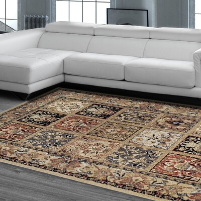 Diskin Beige Area Rug Rug Size: Rectangle 8x10