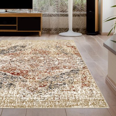 Golston Ombre Beige Area Rug Rug Size: Rectangle 5x8