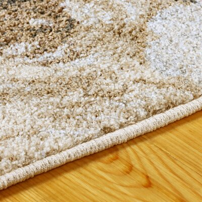 Golston Washed Floral Beige Area Rug Rug Size: Rectangle 8x10