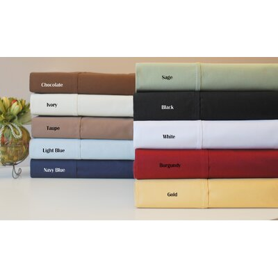 Simple Luxury 530 Thread Count Egyptian Cotton Solid Sheet Set - Size: Split King, Color: Burgundy at Sears.com