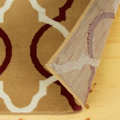 Joan Gold/Red Area Rug Rug Size: 5 x 8