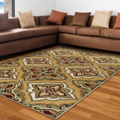 Paone Green/Brown Area Rug Rug Size: 4 x 6