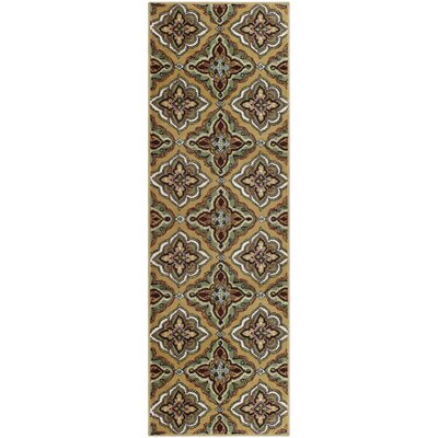 Paone Green/Brown Area Rug Rug Size: Runner 27 x 8