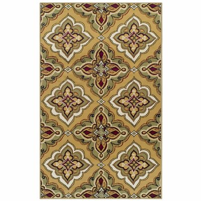 Paone Green/Brown Area Rug Rug Size: 8 x 10