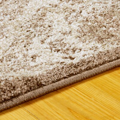 Dunminning Brown and Cream Area Rug Rug Size: Rectangle 5 x 8
