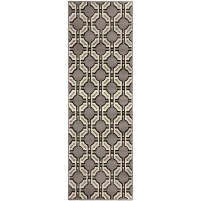 Greybirch Superior Gray Area Rug Rug Size: Runner 27 x 8